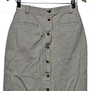 Tommy Hilfiger Maxi Khaki Skirt Size 6